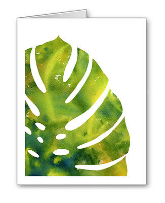 Tropical Leaf Note Cards With Envelopes