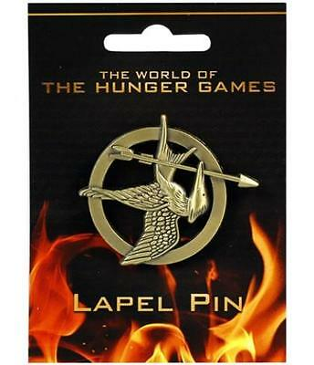 Hunger Games Mockingjay Bronze Lapel Pin Badge Brooch Licensed Collectible