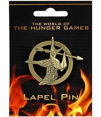 The Hunger Games Mockingjay Bronze Lapel Pin Badge Brooch Licensed Collectible