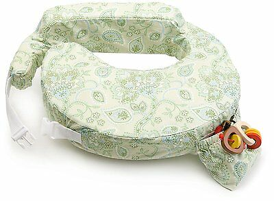 Breastfeeding Pillow My Brest Friend Inflatable Travel New, Green Paisley