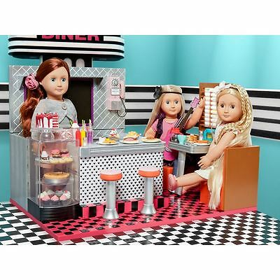Large Our Generation Retro Bite To Eat Diner Dolls Playset Accessories Toy Gift