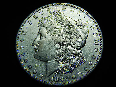 1884-S $1 Morgan Silver Dollar AU