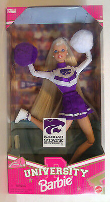 Kansas State University Barbie Special Edition Cheerleader Doll Mattel 1996
