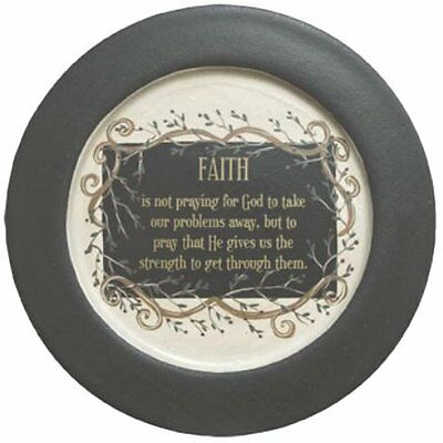 Faith & Vine Wooden Plate 11.50 In Primitive Country Table Top Home Decor