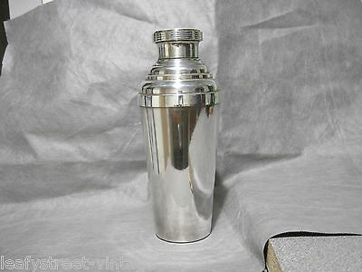 Art Deco 3 Part Silver Plate Cocktail Shaker