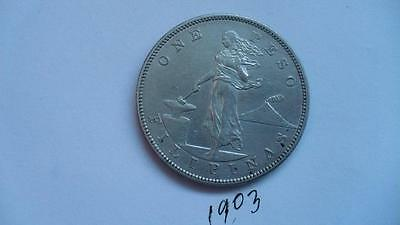 1903 Philippines One Peso Silver Coin