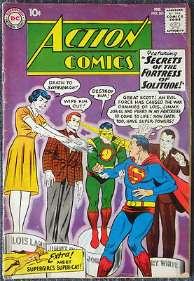 Action Comics #261 Superman Congorilla Supergirl - First Streaky the Super-Cat!