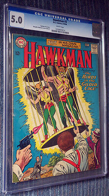 Hawkman #3 (1964) CGC 5.0 White Pages - Hawkman & Hawkgirl - TV Show!