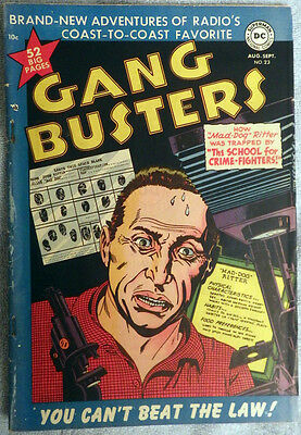 Gang Busters #23 - Crime comic based on popular radio show! Golden Age!