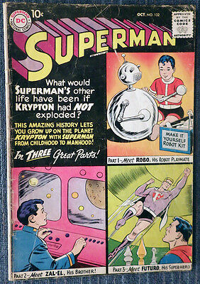 Superman #132 - Superman's Other Life on Krypton! Classic Imaginary Tale!