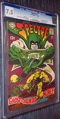 The Spectre #7 CGC 7.5 OW/W Pages - The Ghost That Haunted Money!