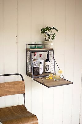 Wall Mount Table Home Bar Cabinet Pub Bistro Game Room  RV Camper,17.5''H.