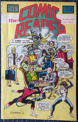 The Comic Reader #145 - 1977 Newzine - Dave Cockrum cover of John Byrne & X-Men!