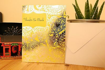 Blank Thanks So Much Card By Tender Thoughts + Envelope FREE SHIPPING penny