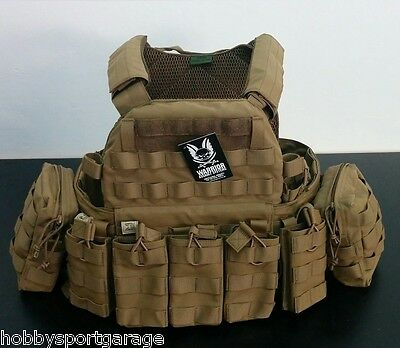 Plate Carrier Warrior Assoult Dcs M4 5.56 Coyote Crye