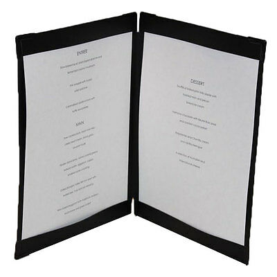 Black Leather Menu Cover with corners