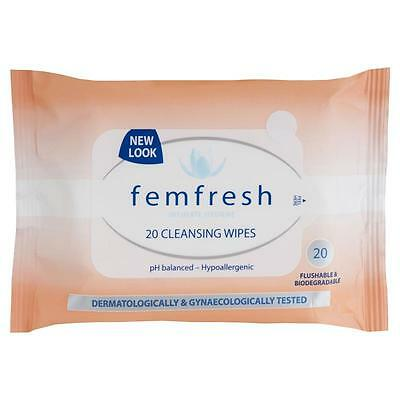 2 X Femfresh Intimate Hygiene 20 Cleansing Wipes
