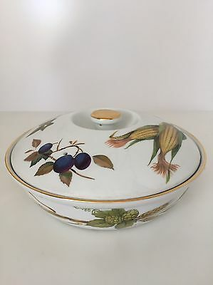 ROYAL WORCESTER EVESHAM LIDDED CASSEROLE DISH Size 3 *PERFECT CONDITION*