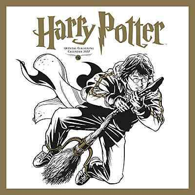 Harry Potter Official 2017 Colouring Square Wall Calendar BRAND NEW