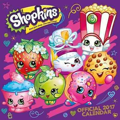 Shopkins Official 2017 Square Wall Calendar Strawberry Kiss BRAND NEW