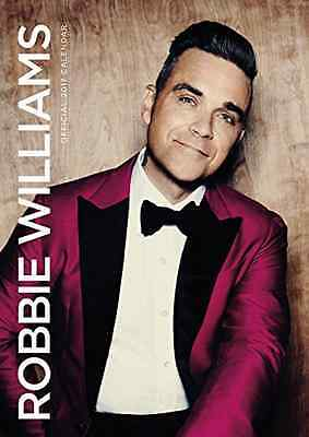Robbie Williams The Official 2017 A3 Wall Calendar Singer Take That Star NEW