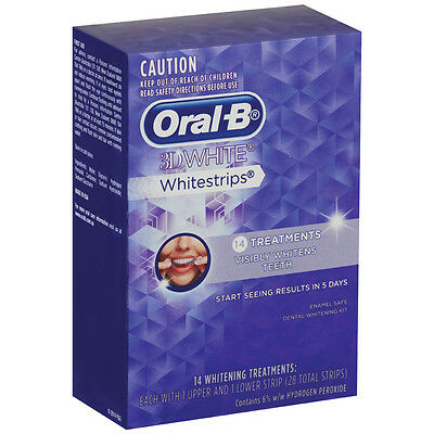 Oral-B 3D White Whitestrips 14 Treatments Strips (Oral B White Strips)