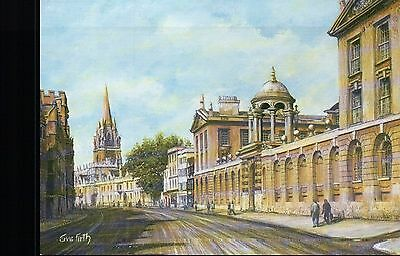 The High Street Oxford England College & University, United Kingdom Art Postcard