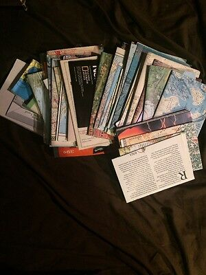 Nice Lot Of 48 Vintage National Geographic Maps 1950's~1980's
