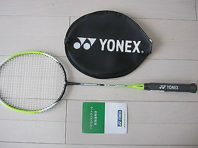 Yonex Badminton 1 x Racquet Basic 4000 LIME Strung B4000 Includes Cover 2015new
