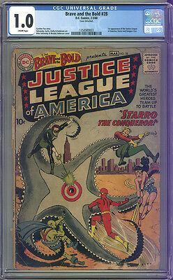 BRAVE and the BOLD # 28 CGC 1.0 COMPLETE 1st JUSTICE LEAGUE of AMERICA! $ CHEAP!