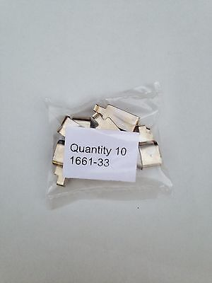 1661-33 New Slide Shoes for Lionel O & 027 Steam Loco, 10 Tot Free Shipping