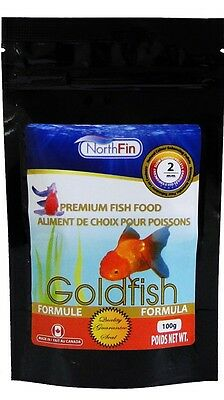 NORTHFIN GOLDFISH FORMULA 2 mm 100g Herbivore Omnivore  Premium Fish Food