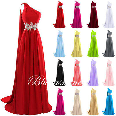 Long Prom Dresses New Bridesmaid Party Chiffon Formal Gown Evening Size 6-22