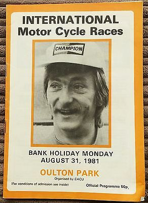 Oulton Park International Road Motor Cycle Races 31st Aug 1981 Programme