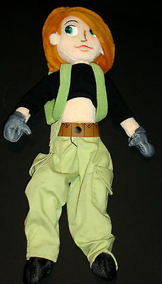 "Disney Store Exclusive 14""  Kim Possible Poseable Stuffed Animal Plush Toy Doll"