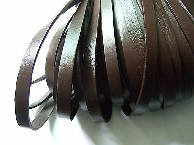 Black/Brown 8mm Flat Genuine Leather Cord String Lace Thong Jewellery Making