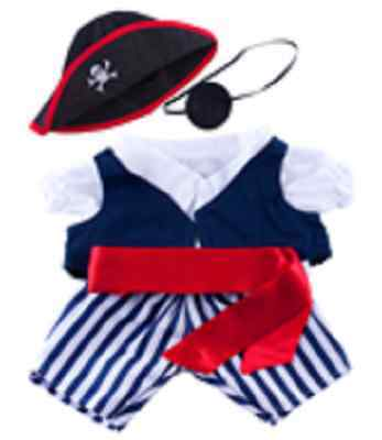 """Pirate Outfit 16""""(40cm) will fit Build a Bear & Stufflers Bears"""