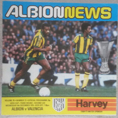 West Bromwich Albion v Valencia UEFA Cup Third Round Second Leg 1978 - 1979