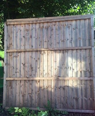 3 Fencing Panels, Approx 6ft X 6ft, Heavy Duty, Feather Edge