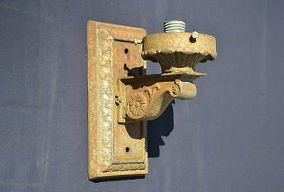 Antique Cast Iron Wall Sconce for Restoration Architectural Lighting Fixture
