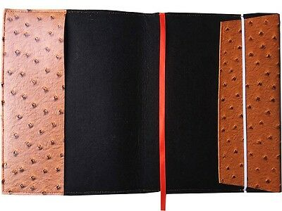 Handmade PU Leather Ostrich Fuax Book Cover PaperBack With BookMark Ribbon