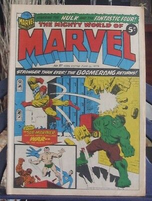 Marvel Comics  Present The Mighty World of Marvel #37 Jun 16 1973