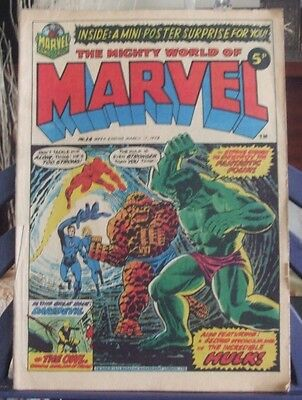 Marvel Comics  Present The Mighty World of Marvel #24 Mar 17 1973