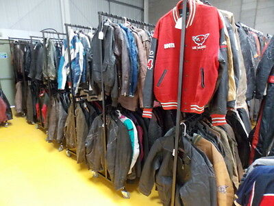 WHOLESALE JOB LOT X 5 Men's Leather Jackets (OCHNIK, HENRY MORELL, AMBITION N...