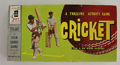 John Sands Cricket Board Game 1960s Vintage Sports Collectable