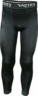 Raptor Football/Rugby/Hockey Baselayer/Base Layer Tights/Skins/Leggings 5-13yrs