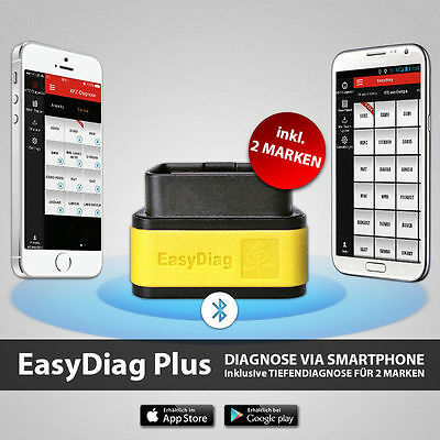 Launch EasyDiag PLUS incl. 2 Marche OBD-2 Diagnosi Easy Android AUDI BMW OPEL VW