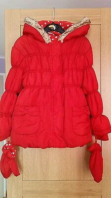 Girl's red George jacket size 4-5