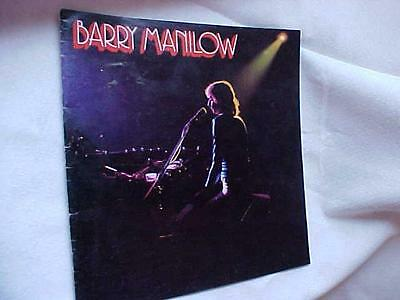 VINTAGE Hard to Find BARRY MANILOW CONCERT PROGRAM 1970s First Program maybe??