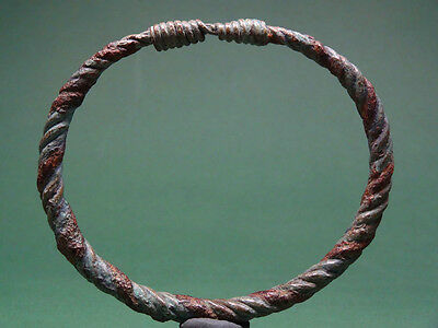 Ancient Bronze Bracelet Twisted Wires Design Greco-Roman 200 Bc-100 Ad